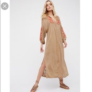 *NWOT* Free People sweet harvest maxi dress